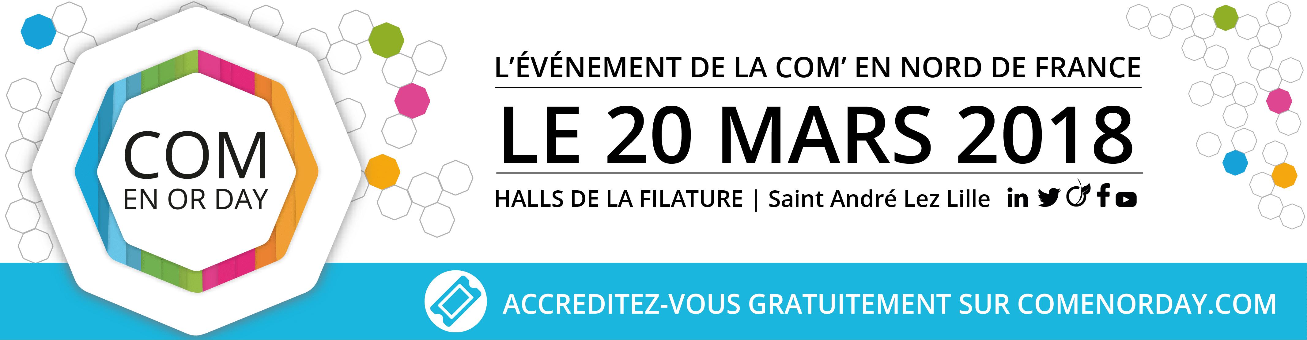 Salon de la communication à Lille : Com en Or Day avec Referencemoi.com